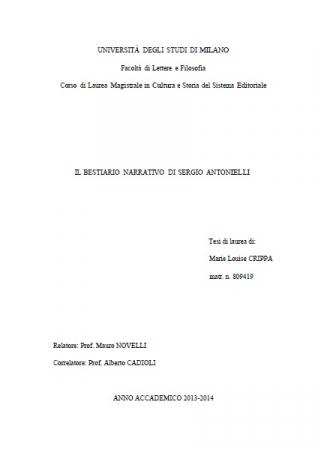 Il Bestiario narrativo di Sergio Antonielli
