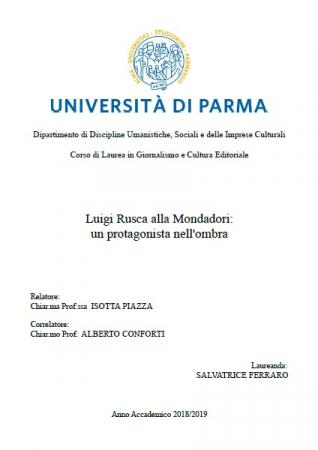 Luigi Rusca alla Mondadori