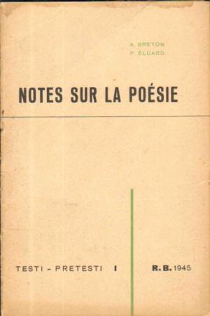 Notes sur la poésie