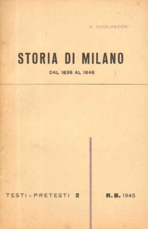 Storia di Milano dal 1836 al 1848