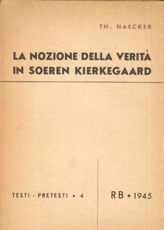 La nozione della verità in Soeren Kierkegaard
